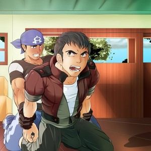 [grelx] Team Aqua Grunts x Norman (Pokémon) – Gay Comics