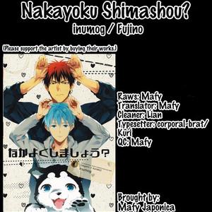 [inumog] Nakayoku Shimashou – Kuroko no Basuke dj [Eng] – Gay Manga image 001