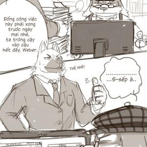[Hikuchi] Night in the office [Vi] – Gay Comics